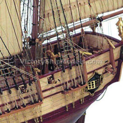 Ship Model Hms Bounty Historic Wooden Static Kit