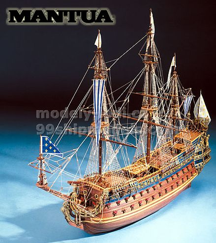 Ship model wooden kit Le Soleil Royal Mantua Sergal (www.victoryshipmodels.com)